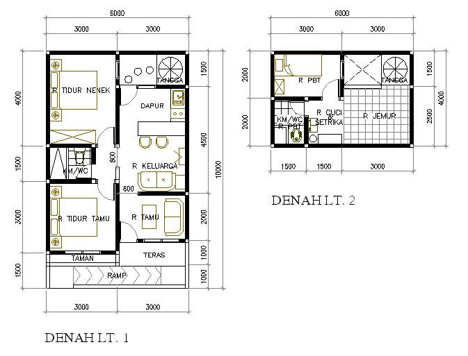 Rumah Mungil Untuk Nenek (60 m2)