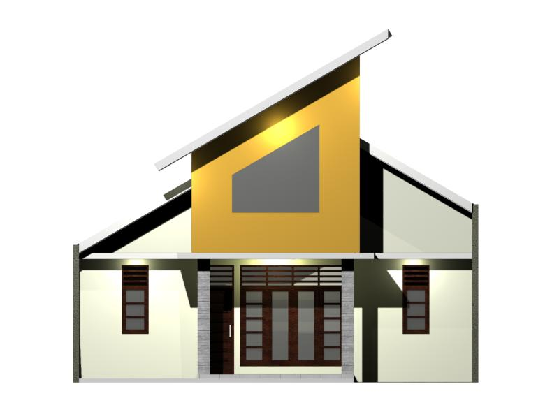 Desain Rumah di Lahan 100 M2 view